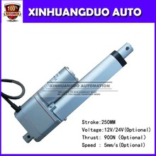 "Mini linear actuator 12V <strong>DC</strong> 250mm/10"" stroke 200lbs load linear actuator with potentiometer feedbacking stroke"
