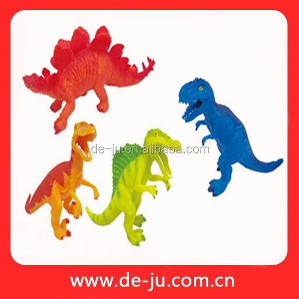 Lifelike Colorful Small Rubber Dinosaur Toy