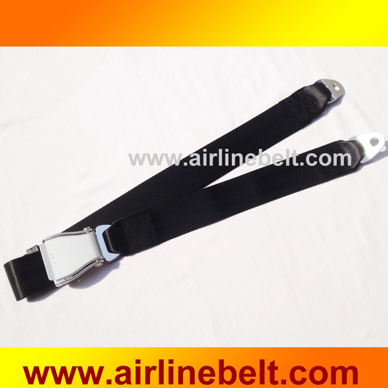 Top quality two points airplane buckle safety seat belts security car seat protection