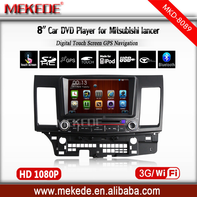 Car tape recorder/cassette player for Mitsubishi Lancer 2006- 2012 with Wifi /3G Host TV Radio Audio Video dvd gps Player