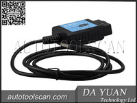 USB ELM327 V1.4 Plastic OBDII EOBD CANBUS Scanner with FT232RL Chip Software V2.1 ELM019