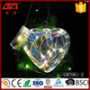 Wholesale lighted heart shaped glass crafts