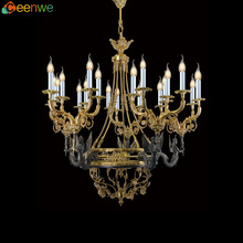 Hot selling crystal chandelier centerpieces wedding brass crystal chandelier