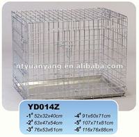 two doors foldable galvanized metal wire dog cages China manufacturer