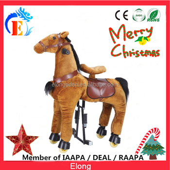 Elong plush mechanical ride kids animal ride toys riding horse toys Christmas on sale