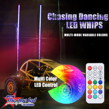 Manufacturer sell price Remote Control RGB LED Whips, Flexible Stick Light, Light for atv utv Off-road Buggy Car Accessories