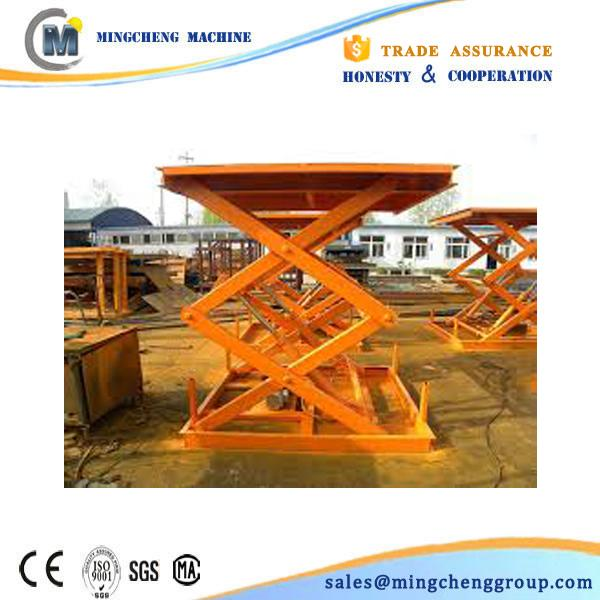 1000kg scissor skylift manufacturer by rail