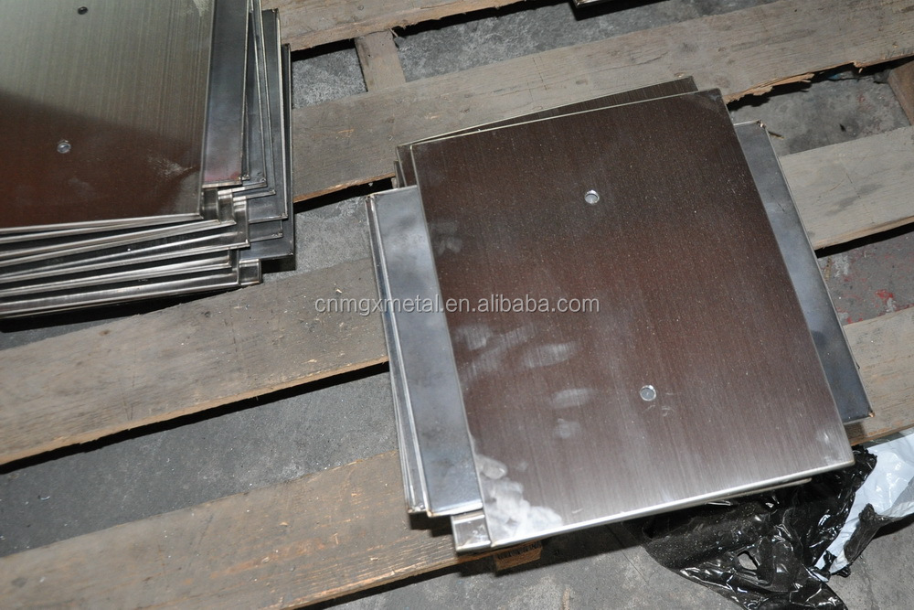 Custom made high quality brushed stainless steel cover weighting plate with steel heavy plate