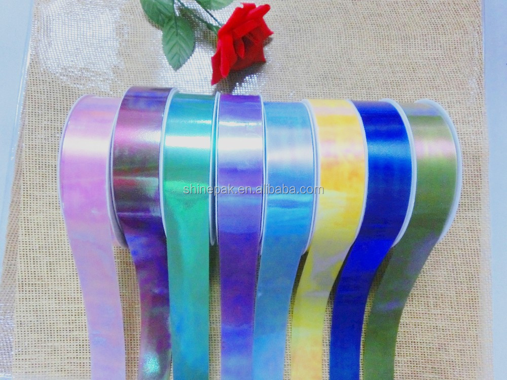 manufacture iridescent plastic ribbon