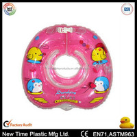Round Clear PVC Safety Baby Neck Ring Swimming Inflatable Infant Swim Floating Ring For Baby
