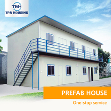 Steel Frame Construction Price Double Storey Modular Slope Roof Flat Roof House Prefabricated Modular Houses Homes Plans Designs