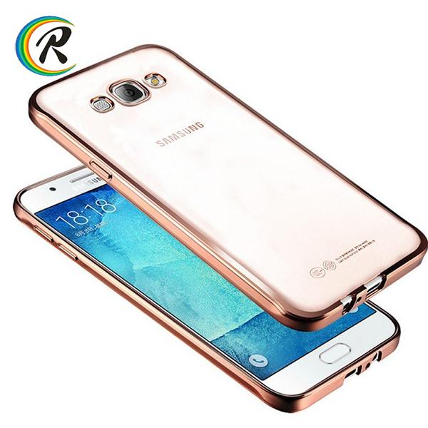 Colorful back cover for samsung galaxy a8 a7 j5 j7 for Samsung A7 2016 Electroplating silicon case cover