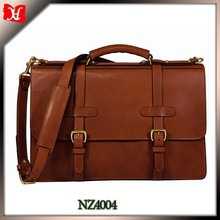 Brown Leather slim Briefcase Portfolio middle standar size briefcase laptopmesenger bag classic collection bag