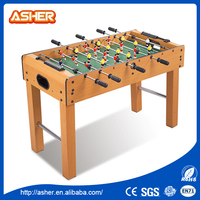 Popular design classical sport non toxic wooden baby foot game table