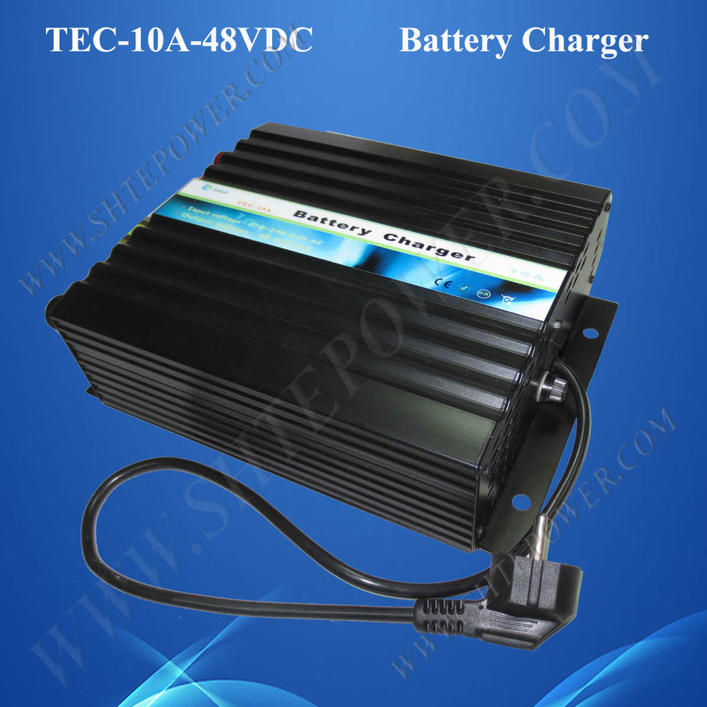 48 Volt Battery Charger, Universal Charger for Power Battery 48V 10A