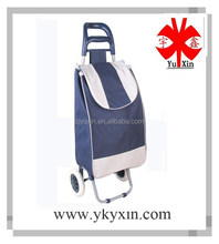 High quality shopping trolley bag/Foldable shopping trolley bag with 2 wheels