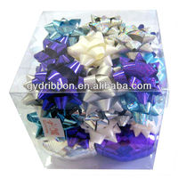 2016 Mixed Colors Holiday Star Bows and Packing Ribbon Eggs for Ornament