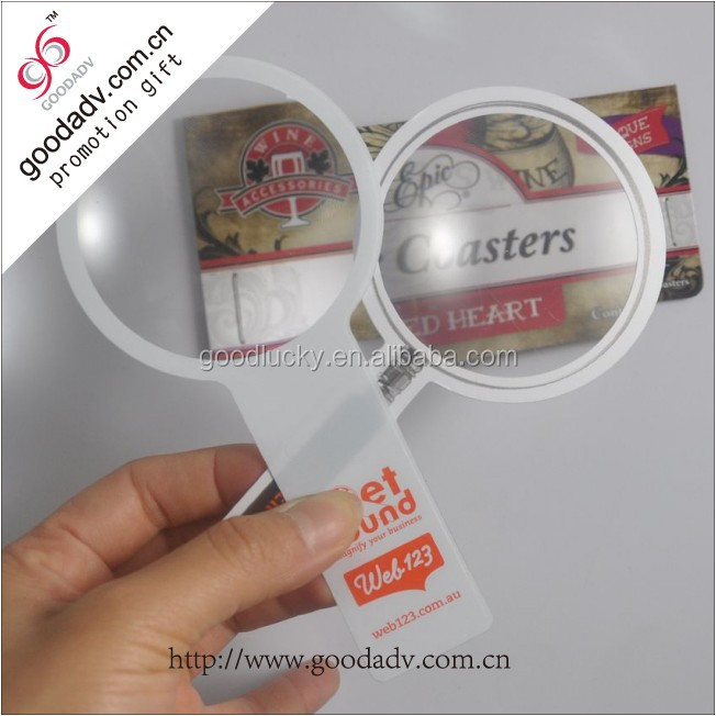 Fashion cheap magnifying glasses/plastic magnifying sheet