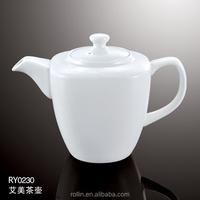 2016 Hot-selling white porcelain tea pot ,ceramic coffee pot for Hotel&Restaurant