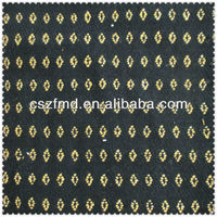 Fashion floral jacquard poly wool blended fabric for coat dress garment shoe