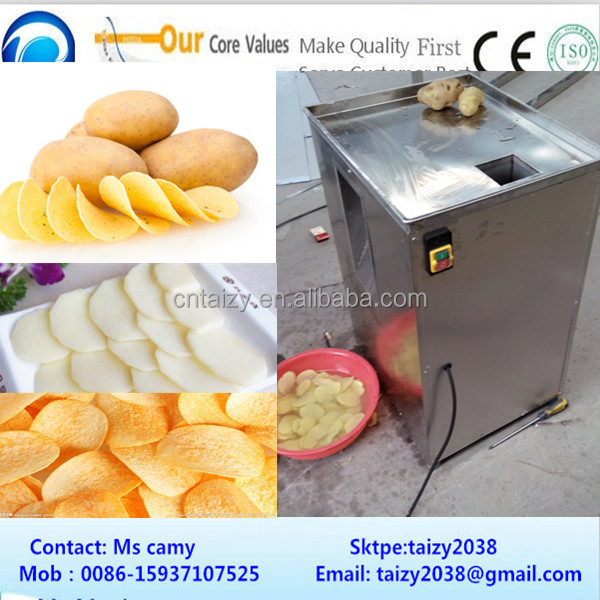 industrial potato chips cutter/Automatic potato chips cutting machine/fresh potato cutting machine