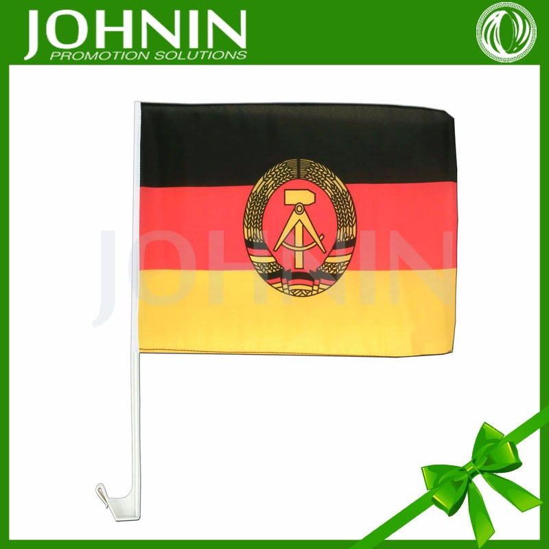"OEM 25"" strong plastic pole sublimation printing germany gdr car flag new"