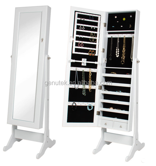 Cheval Mirror Jewelry Cabinet