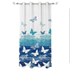 curtain printed window with valance, Designs For The Living Room Window,European design