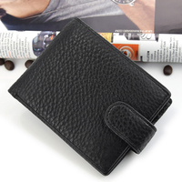 USA Best Selling RFID Blocking Classical Men Genuine Leather Bifold Wallet
