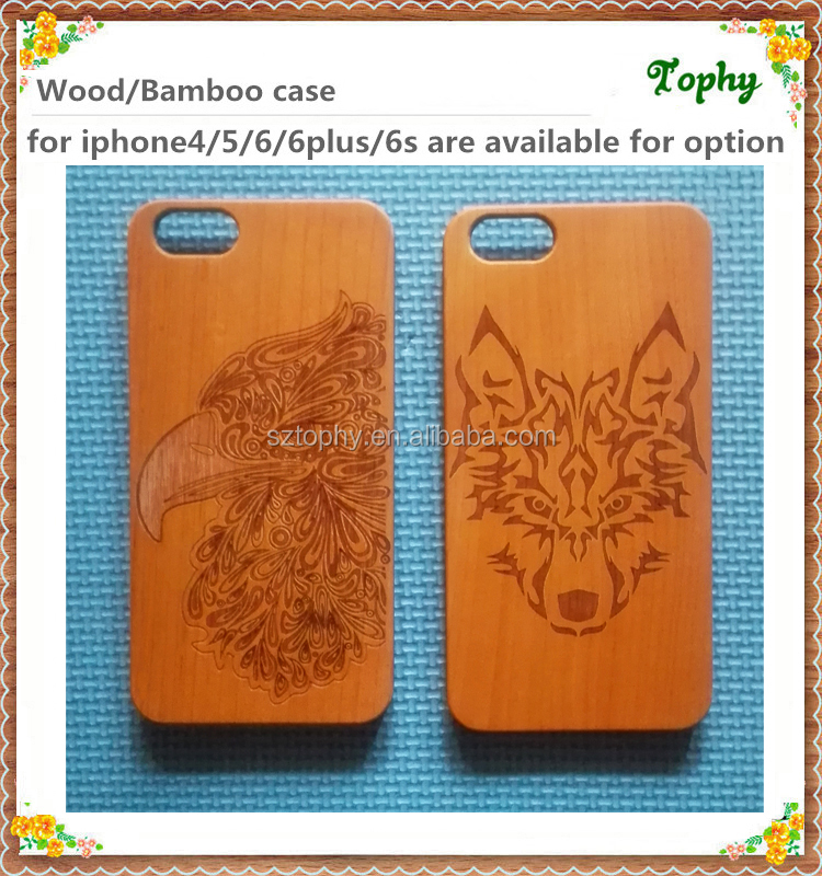 High quality mobile wooden phone case/shell,bamboo phone case/shell, engraving your own design for iphone for samsung