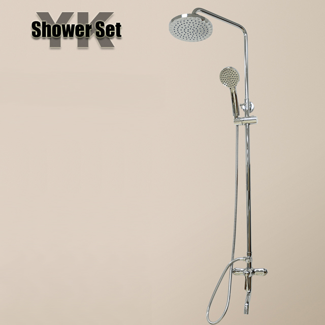 2017 New luxury royal silver rain bathroom shower set