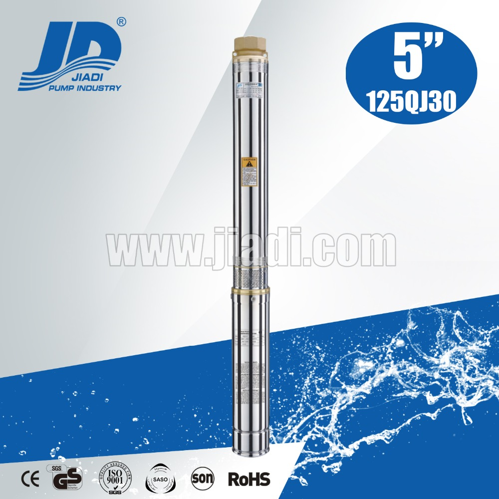 5 inch 125QJ30 series multistage submersible pump specifications