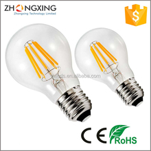 Indoor LED Lighting A60 Globe 360 Degree E27 Dimmable 4000K LED Filament Light Bulb