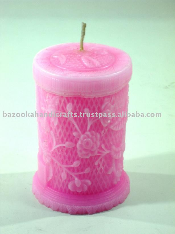 Pillar Candle Made of Scented Paraffin Wax., Decorative Candle For Wedding And Party