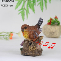 Craft gift birds with sound in resin from China