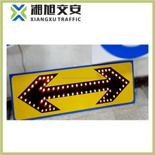 solar power guide light/road safety warning sign board for traffic security