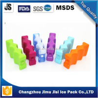 600ml double wave ice box,curvy ice block for cooler box