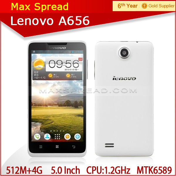 lenovo a656 mkt6589 quad core 1.3ghz 512mb ram 4gb rom 5.0inch chinese brand phone