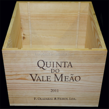 Brand Large Classic Decorative Pine Wood Wine Gift Cases Without lid
