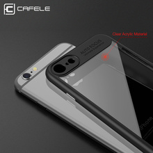 CAFELE Slim Case Luxury Transparent PC & TPU Protect Shockproof Phone Cases Cover For Iphone 6S Plus