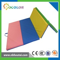 CE cetification high quality folding gym mat,colorful baby play mat,foam exercise gymnastics mat