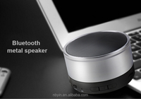 2016 new design portable wireless bluetooth metal speaker with big sound