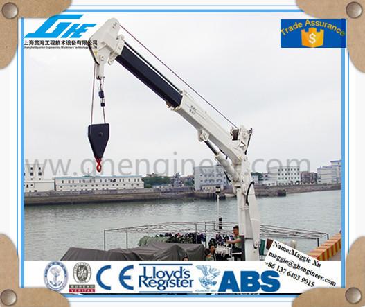 Telescopic Deck Cranes : Ghe hydraulic telescopic marine crane ship deck