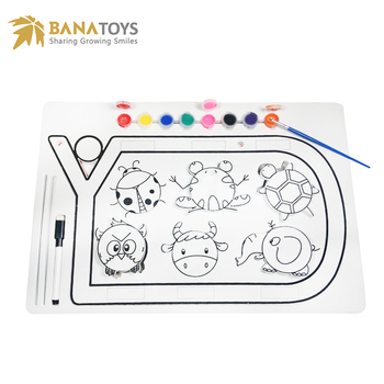 2 in 1 educational steam water color painting drawing toys for kids