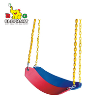 Plastic Hanging Belt Swing with PVC swing coated chain