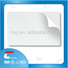 custom print credit card size sticker plastic card /blank adhesive backed pvc cards