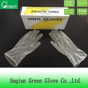 PVC gloves professional disposable vinyl gloves 9' with high quality AQL1.5/2.5/4.0