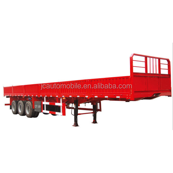 JC Cheap 40 tons flatbed container semi trailer with side panel for sale