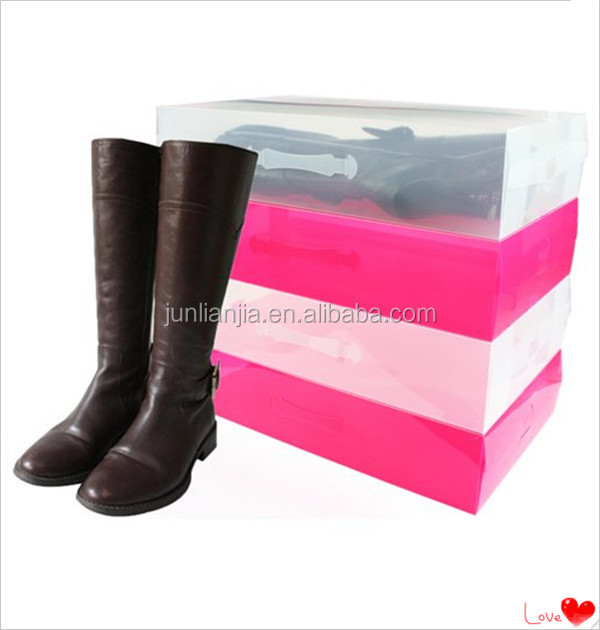 Colorful PVC material shoes packaging container