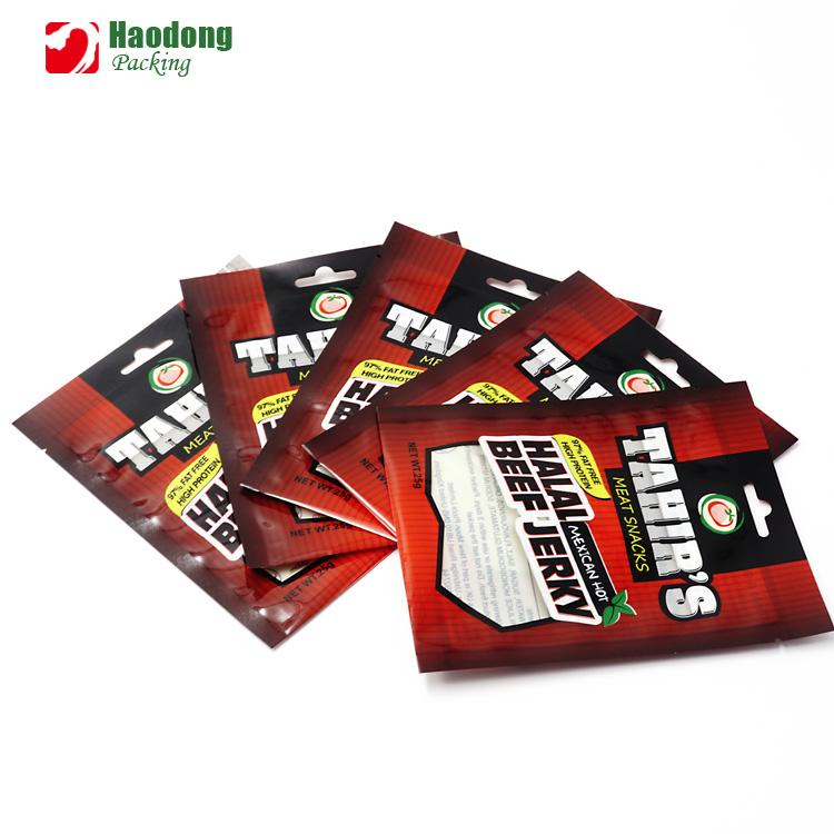 Custom Beef Jerky Packaging Bags/Kraft Stand Up Pouch For Beef Jerky